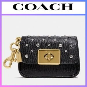 COACH Mini Cassidy Coin Case with Rivets